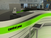 návrh pultu pro letiště v Ostravě