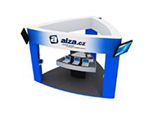 prezentační stánek společnosti Alze