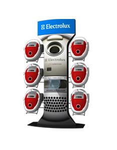 prezentační stojan pro vysavače electrolux