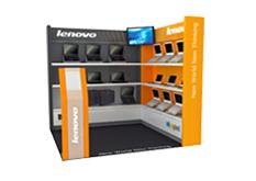 prezentační stánek Lenovo